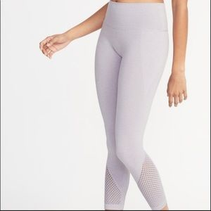 Old Navy 7/8 Ankle Crop Mesh Active Legging